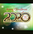 merry christmas and 2020 happy new year bubbles vector image vector image