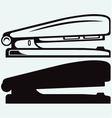Metal stapler vector image vector image