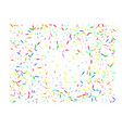 multicolor hexagonal shape confetti wide vector image