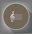 music violin clef sign g-clef white icon vector image vector image