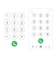 phone dial number keypad screen mobile call dial vector image vector image