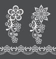 retro floral lace half wreath single pattern vector image vector image