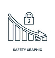 safety decrease graphic icon mobile app printing vector image vector image