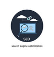 seo search engine optimization icon vector image vector image