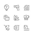 set line icons of measurement vector image vector image