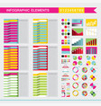 set of colorful infographic elements charts graph vector image vector image