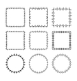 Set of hand drawn doodle decorative frames and vector image vector image