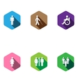 set of medical icons Flat desigh long shadows vector image
