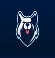 siberian husky e sport logo icon vector image