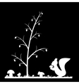 Silhouette of the squirrel in the grass vector image vector image