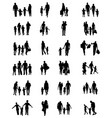 silhouettes of families in walk vector image vector image