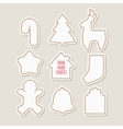 Silhouettes of gingerbread cookies Homemade vector image vector image