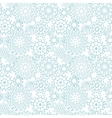 Silver gray abstract mandalas seamless pattern vector image