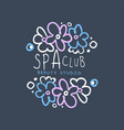 spa club beauty studio logo emblem for wellness vector image vector image