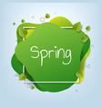 spring sale speech bubble poster vector image