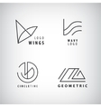 st of Line Geometric Hipster Symbols for vector image vector image