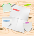 stick note memo paper art style with white vector image