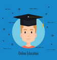 student graduating electronic education vector image