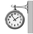 train station clock isolated on white background vector image