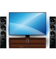 TV on a stand and home theater vector image vector image