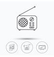 Radio TV and video camera icons vector image