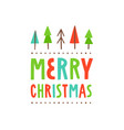 merry christmas cute greeting card vector image