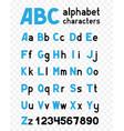 alphabet on transparent background vector image