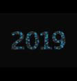 2019 blue broken numbers vector image