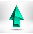 3d Green Up Arrow Sign with Light Background vector image