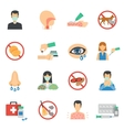 Allergy Icons Flat Set vector image vector image