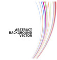 amazing linear thread abstract white vector image