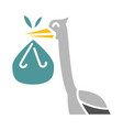 baby stork color icon design sign vector image vector image