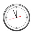 black wall office clock icon showing five minutes vector image