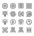 brainstorm icon set vector image vector image