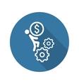 Business Mechanics Icon Flat Design vector image