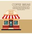 coffee house break shop store icon graphic vector image