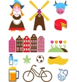 collection netherlands icons vector image vector image