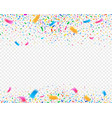 color confetti carnival party background vector image vector image