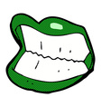 Comic cartoon grinning halloween mouth