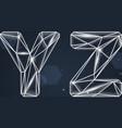 Constellation Geometric Font Y-Z vector image vector image
