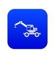 crane truck icon digital blue vector image vector image