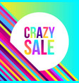 crazy sale web banner lots colorful lines vector image vector image