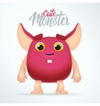 Cute magenta monster rabbit with big ears Fun vector image