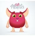 Cute magenta monster rabbit with big ears Fun vector image vector image