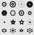 Design target and arrow icons on gray background vector image vector image