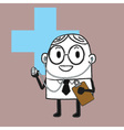 Doctor Doodle vector image vector image