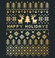 elegant scandinavian style happy holidays card vector image