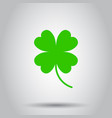 four leaf clover icon on isolated background vector image vector image