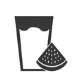 fresh watermelon juice icon vector image