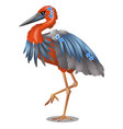 goliath heron or ardea goliath isolated on white vector image